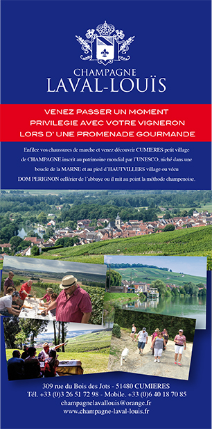 Promenade gourmande du Champagne Laval Louis